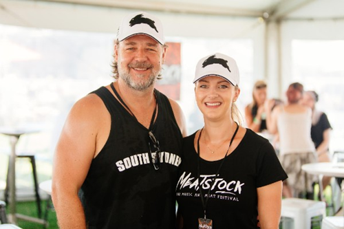 Russell Crowe at Meatstock